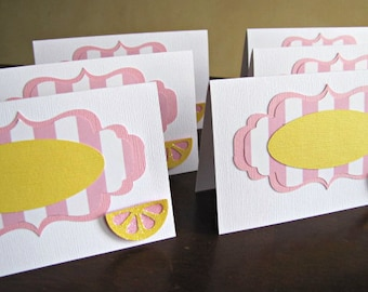 Pink Lemonade Party Food Tent  Cards, Pink Lemonade Party Place Cards, Pink Lemonade Food Labels, Pink Lemonade Party , Lemonade, Set of 10