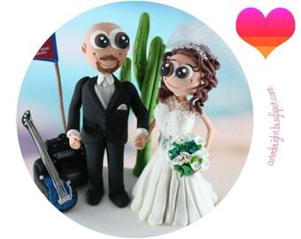 Wedding Cake Topper,GUITAR wedding cake topper,rock and roll wedding,rock & roll wedding cake topper,rocker groom,texas wedding cake topper