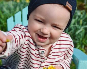 Bambeanie - Jet Black - Slouchy beanie - Slouchy hat - Bamboo hat - Kids hat