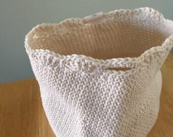 Crochet cotton basket