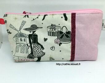 Pink Parisian pouch