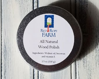 Wood Polish, All-Natural, 3.5 ounce