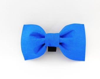 Blue Dog Bow Tie, Blue Dog Bow, Dog Collar Flower, Blue Cat Bow Tie, Wedding Dog Bowtie, Boy Dog Outfit, Girl Collar Flower