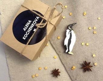 Penguin Bird Brooch - Laser Cut Penguin - Acrylic Brooch Penguin - Jewelry Penguin Bird - Plexiglas - Handmade - Barnaul
