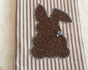 Kitchen Tea Towel, Spring Country Bunny