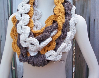 Crochet Pattern Unique Scarf Braided Scarf Easy Crochet Pattern Scarf Necklace Crochet Patterns For Beginners Infinity Scarf Chain Scarf