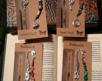 Mermaid Sheppard Hook Bookmarks with Charms