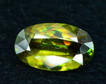3.05 cts Rare Full Fire Multi Color Natural Sphene Titanite Gemstone from Pakistan - 11*5*3 mm