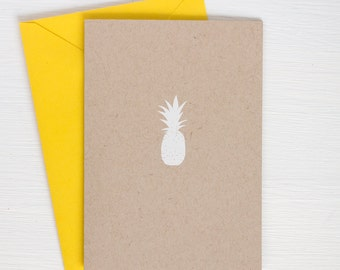 kraft PINEAPPLE folded notecards