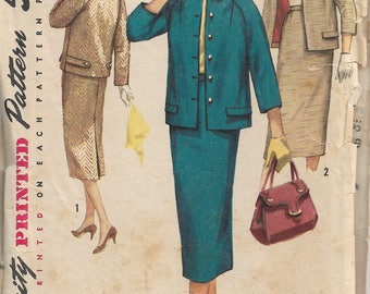 "Sewing Pattern -  Women's suit - Simplicity 1798 - Vintage Sewing Pattern - Size 16 Bust 36"" - Sewing Patterns"