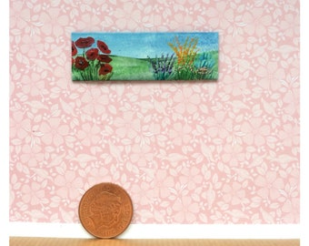 Dolls House 1:24 scale Original Art miniature Painting Dollhouse