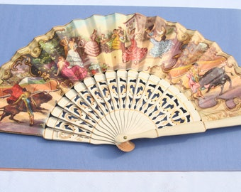Vintage Ladies Hand Fan from Crespo, in Valencia,