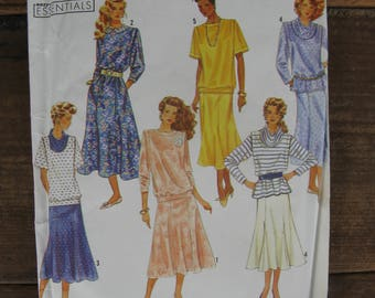 simplicity sewing pattern 7011 size L5 (12-20) uncut factory folded 1990s fashion
