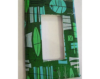mid century light switch cover atomic 1950's rocker dimmer switch plate rockabilly tiki