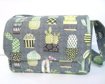 Large 4 inch Size Coupon Organizer / Coupon Bag Budget Holder Box Attaches to Your Shopping Cart Cactus  - Select Your Size