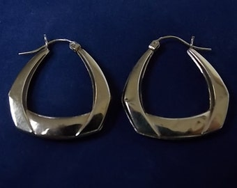 Vintage Estate 14K Gold Hoop Earrings, 2.35g #E999
