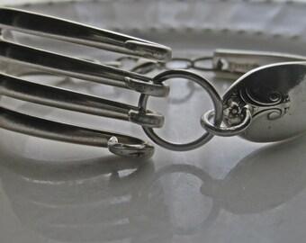 Fork Bracelet Silverplate antique