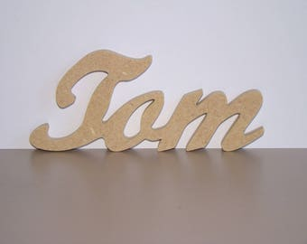 Name in wood on the choice of 3 letters to decorate H 5 cm approx
