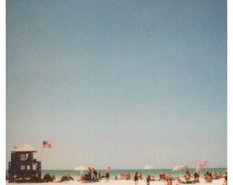 Polaroid Print - 2900 Miles 5 - Fine Art Photograph - Beach Photograph - Summer Photograph - Florida Print - Travel Photography - Home Decor