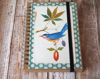 A6 customised kraft notebook - birds - illustration - children's book - notepad - journal - jotter