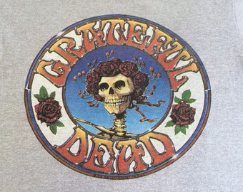 GRATEFUL DEAD Shirt 1978 Vintage 70s/ RARE Official Grateful Dead Skull and Roses Tshirt/ Kelley Mouse Skeleton Jerry Garcia Tee Size Medium