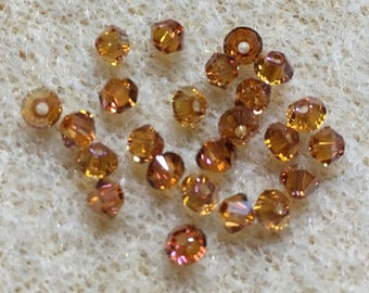 Crystal Copper 5328 Bicone Swarovski Crystal Beads 3mm 24 beads