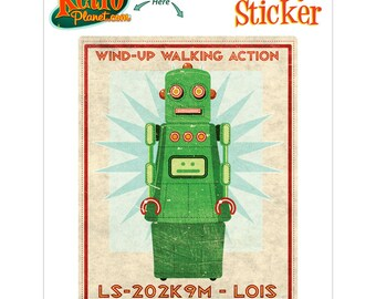 Robot Lois Wind Up Toy Lunastrella Vinyl Sticker - #64413