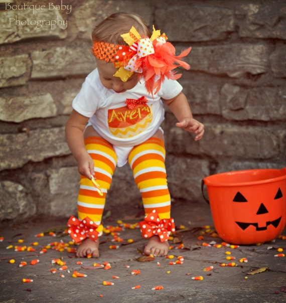 baby girl halloween outfit candy corn sweetie bodysuit