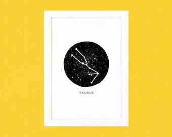 Taurus Zodiac Luxury Pen & Ink Illustration Print - A5 or A4