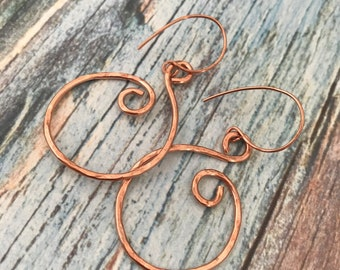 Chloe Copper swirl earrings