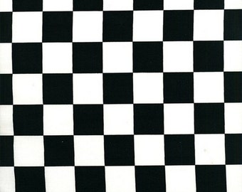 Quilting Fabric, Black/White Check, Racing Fabric, Kids Fabric, Clothing Fabric, CraftSupply/Sewing/Novelty Fabric, Yards/Half Yards