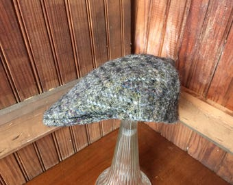 Hats of Ireland - Castlebar - 100% Wool - Donesal Tweed - Newsboy Cabbie Cap Hat size      7 5/8.