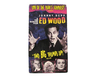 Ed Wood VHS Tim Burton Johnny Depp Plan 9 From Outer Space Movie Video