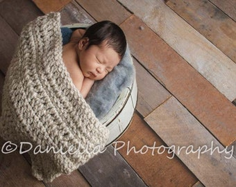 Newborn Photo Prop Blanket in Wheat // Pick Your Own Colours
