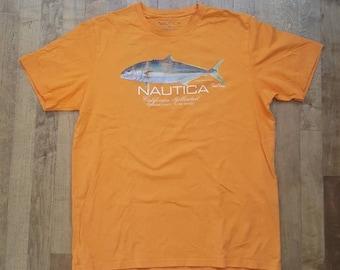 Vintage Nautica Pacific Coast game fish t-shirt, medium