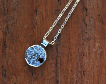 Element Leo Zodiac Necklace- Sterling Silver