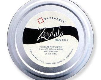 Zentangle® Pre-strung Zendala Tin (Black)