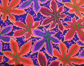 2 yards Lacy Leaf in red from the Kaffe Fassett collection