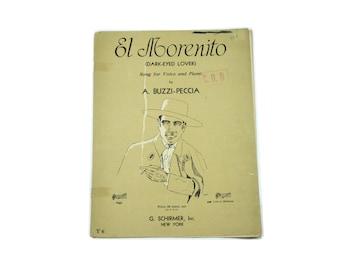 1934 El Morenito Music Sheet.  Notes.