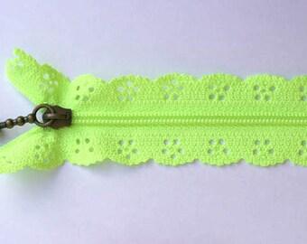 zipper lace Green 20cm
