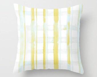 Yellow Pillow, Plaid Pillow, Dorm Pillow, Farmhouse Pillows, Decorative Pillow, Cabin Pillow, Farmhouse Plaid, Ochre Nest Living