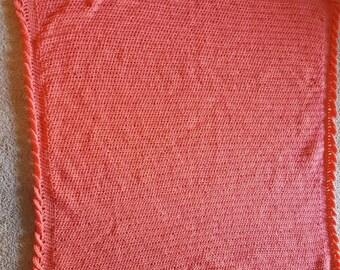 Crochet Coral baby blanket