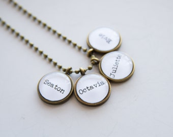 Mom Necklace - Kids Names Jewelry - Family Necklace - Mothers Pride Necklace - Personalized - Grandma Necklace Gift for Mom - Gift for Wife