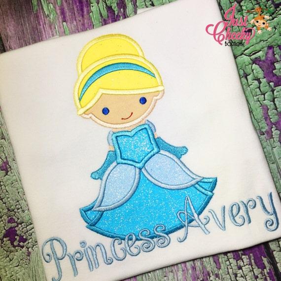 Princess Cutie as Cinderella Embroidered Shirt