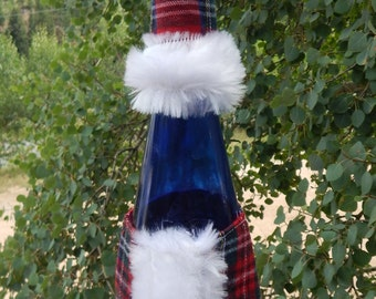 Pattern, Santa Suit Wine Bottle Cover