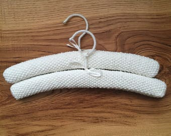 Hand knitted padded hangers - Set of 2