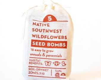 Native Southwest Wildflower Seed Bombs Gardening Gift