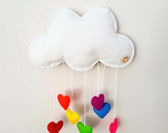 Cloud mobile colourful custom embroidery name