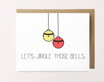 Funny Christmas card, Naughty Christmas card, Dirty Christmas card, Husband Christmas card, Funny holiday card, Christmas humor card