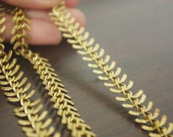 Promotion season-20 feet fantastic  fish bone chain   raw solid brass chain-F999
